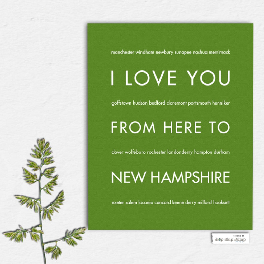 New Hampshire State Home Decor | Gift Idea |...