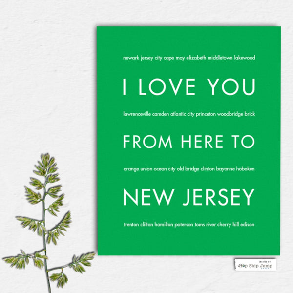 NEW JERSEY State Home Decor