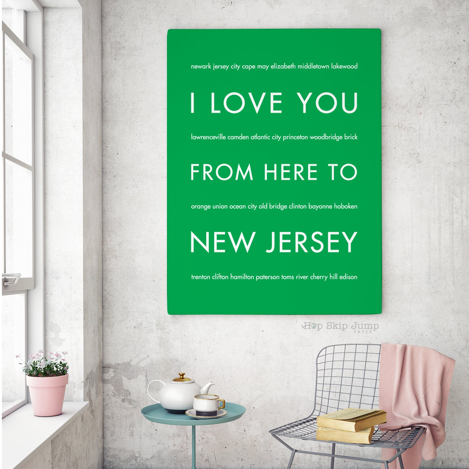 NEW JERSEY State Home Decor | Gift Idea | HopSkipJumpPaper