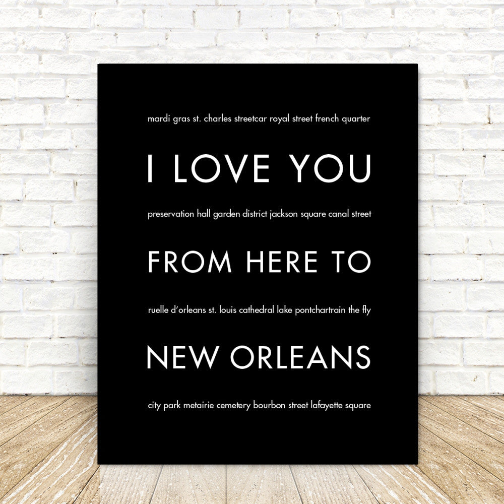 NEW ORLEANSCity Wall Art | Gift Idea | HopSkipJumpPaper  - Shop Online