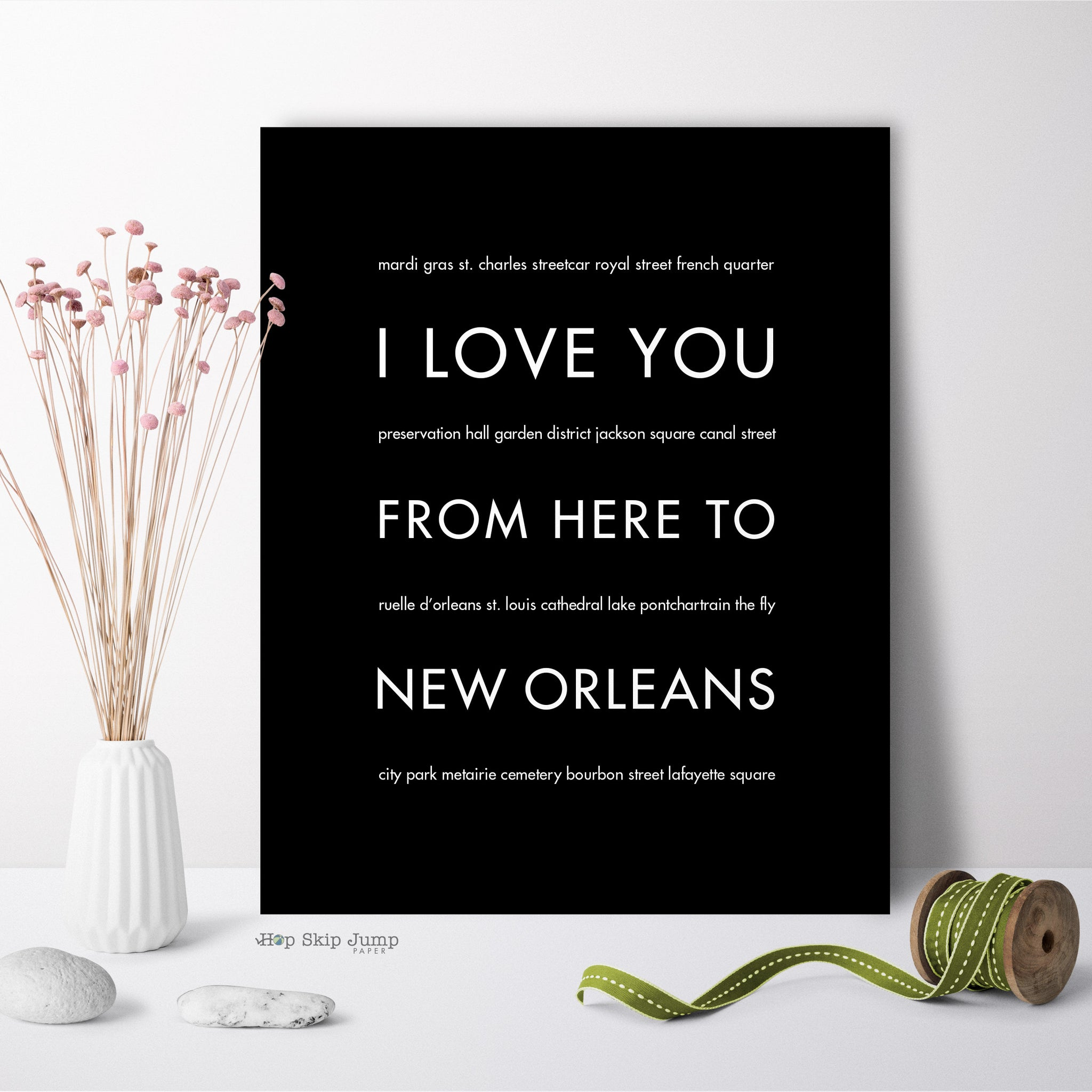 NEW ORLEANS City Wall Art | Gift Idea | HopSkipJumpPaper