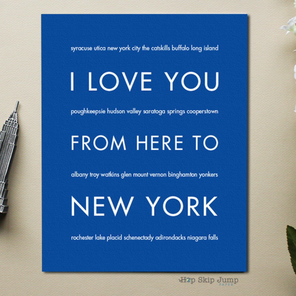 NEW YORK State Wall Poster | Gift Idea | HopSkipJumpPaper  - Shop Online