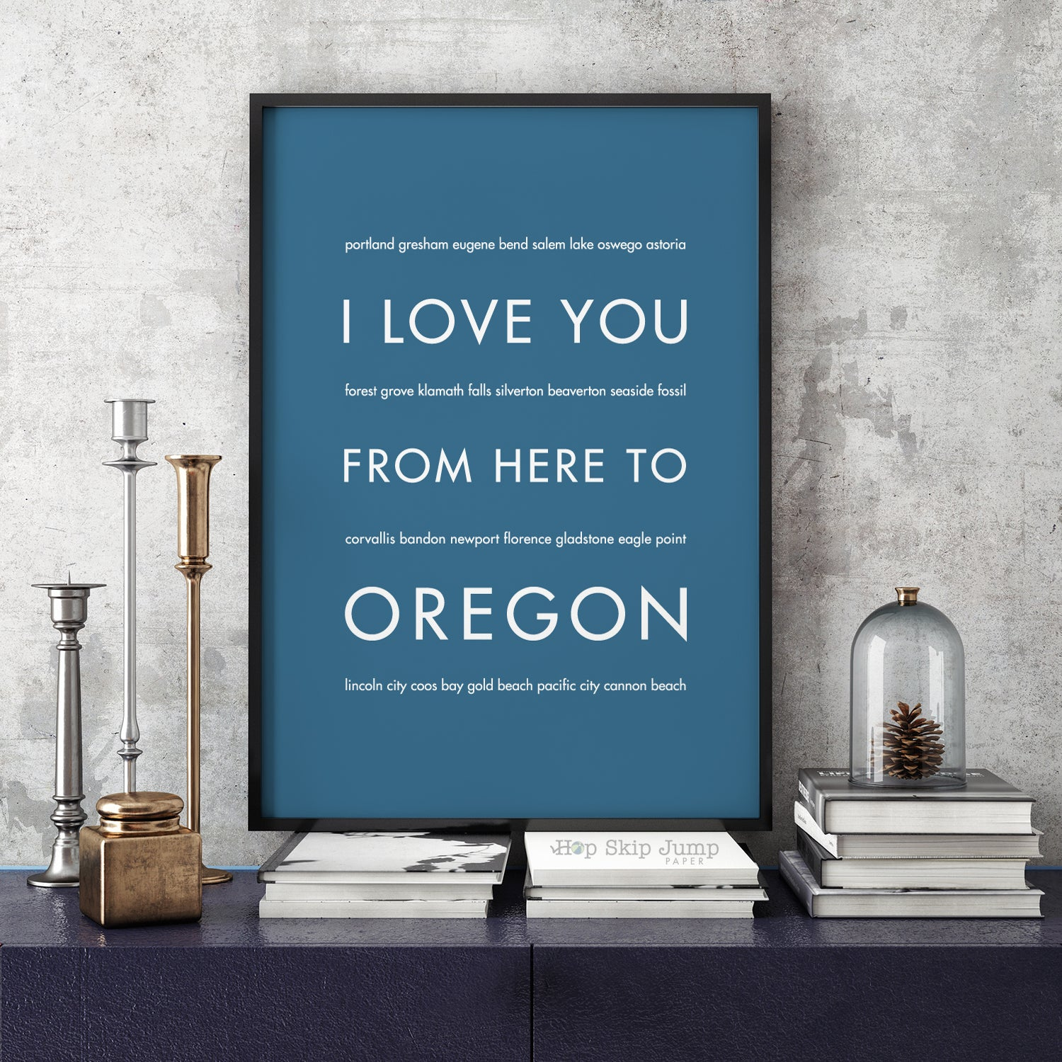 OREGON State Wall Poster | Gift Idea | HopSkipJumpPaper