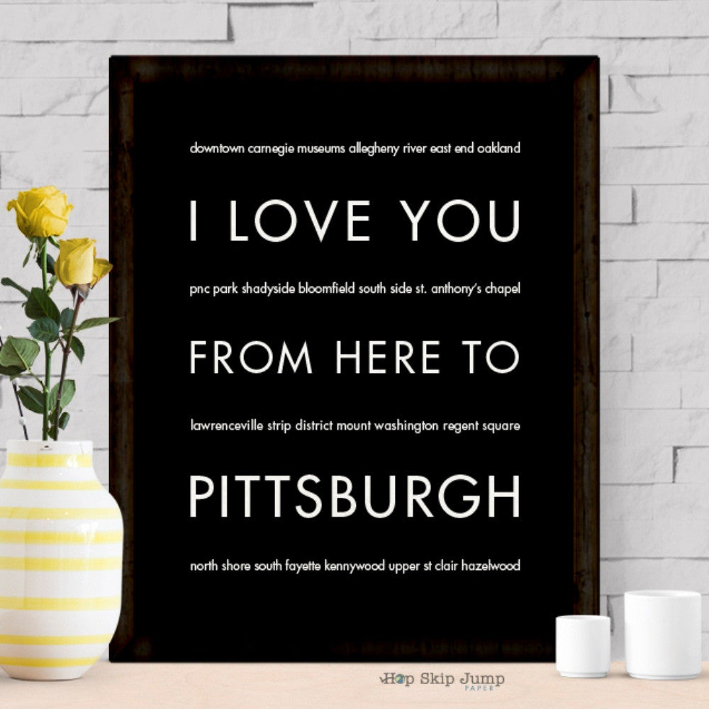 PITTSBURGH City Wall Poster | Gift Idea | HopSkipJumpPaper  - Shop Online
