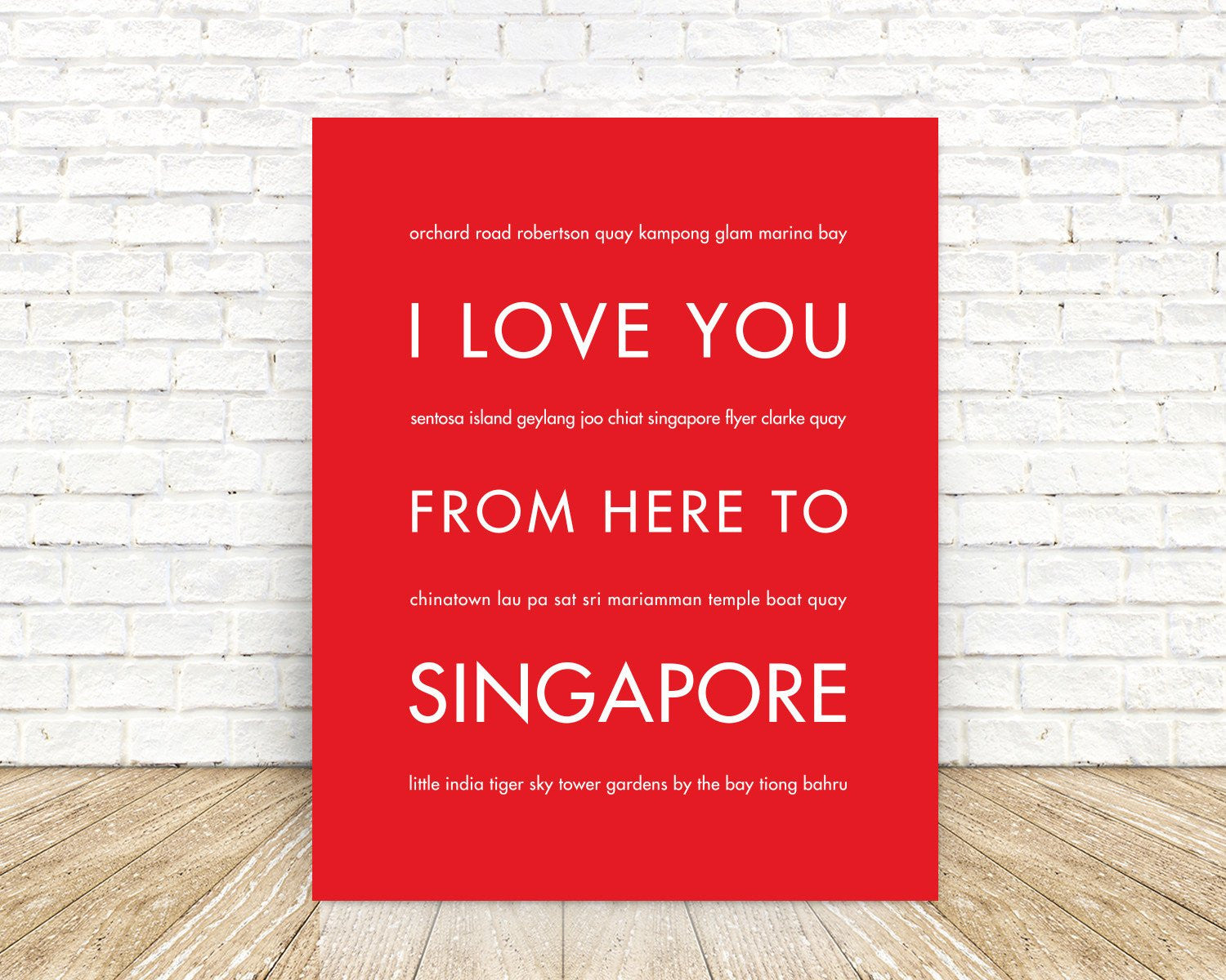 SINGAPORE Travel Print | Gift Idea | HopSkipJumpPaper