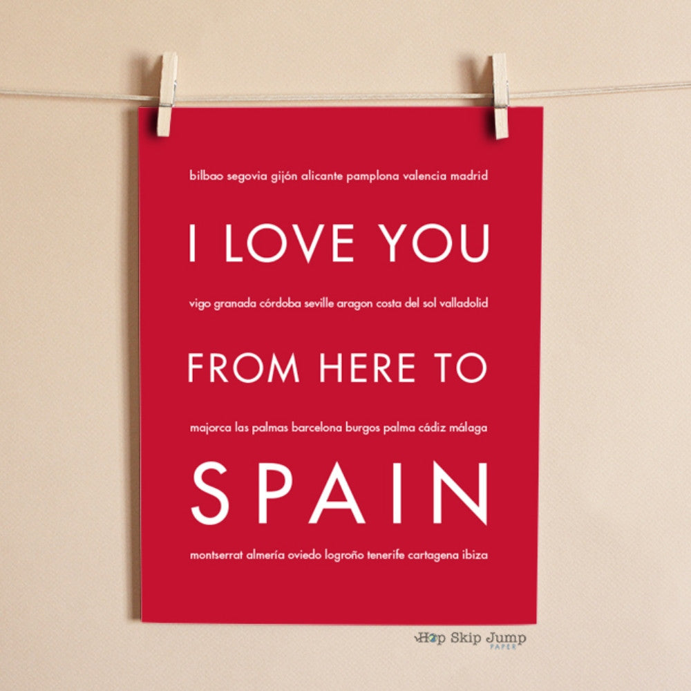 SPAIN Travel Art Print | Gift Idea | HopSkipJumpPaper  - Shop Online