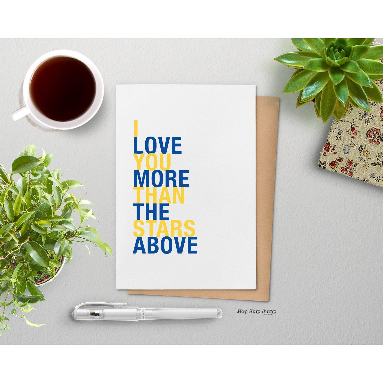 I Love You More Than The Stars Above greeting card  - Shop Online