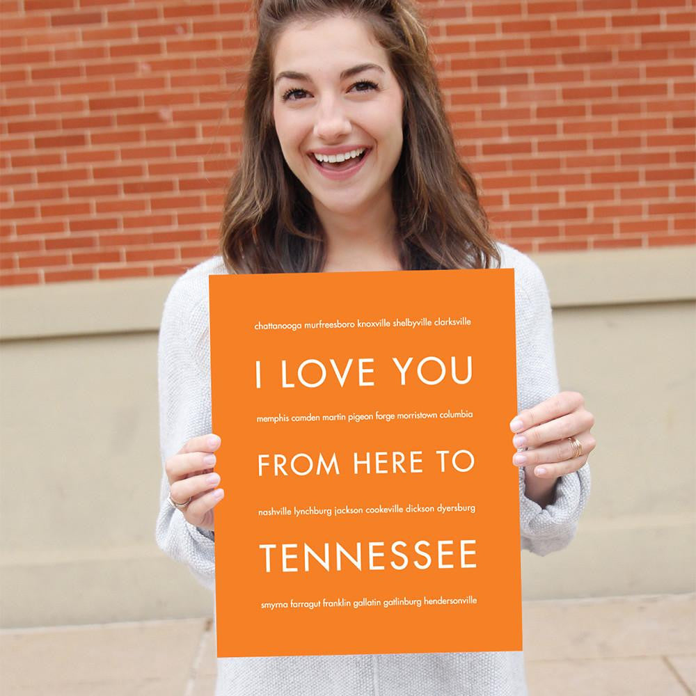 TENNESSEE State Wall Poster | Gift Idea | HopSkipJumpPaper