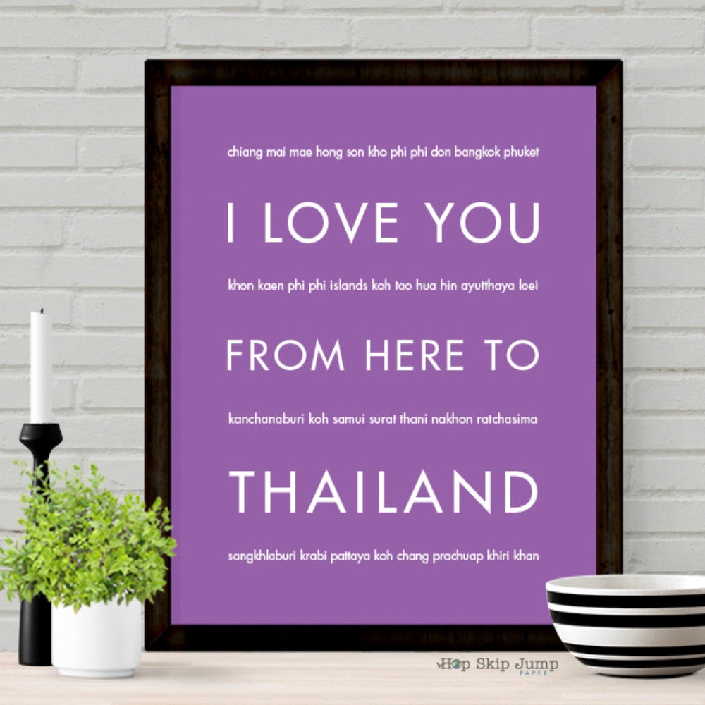 THAILAND Travel Art Print | Gift Idea | HopSkipJumpPaper  - Shop Online