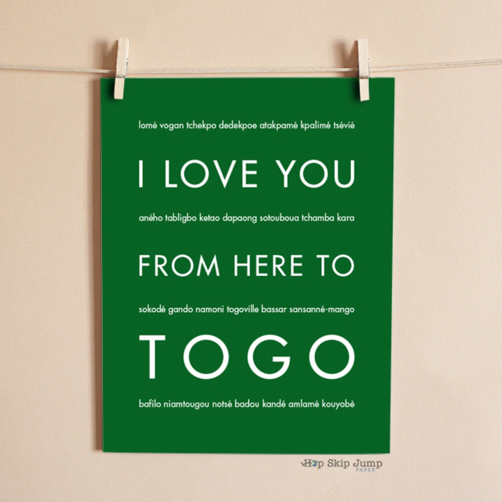 TOGO Travel Art Print | Gift Idea | HopSkipJumpPaper  - Shop Online