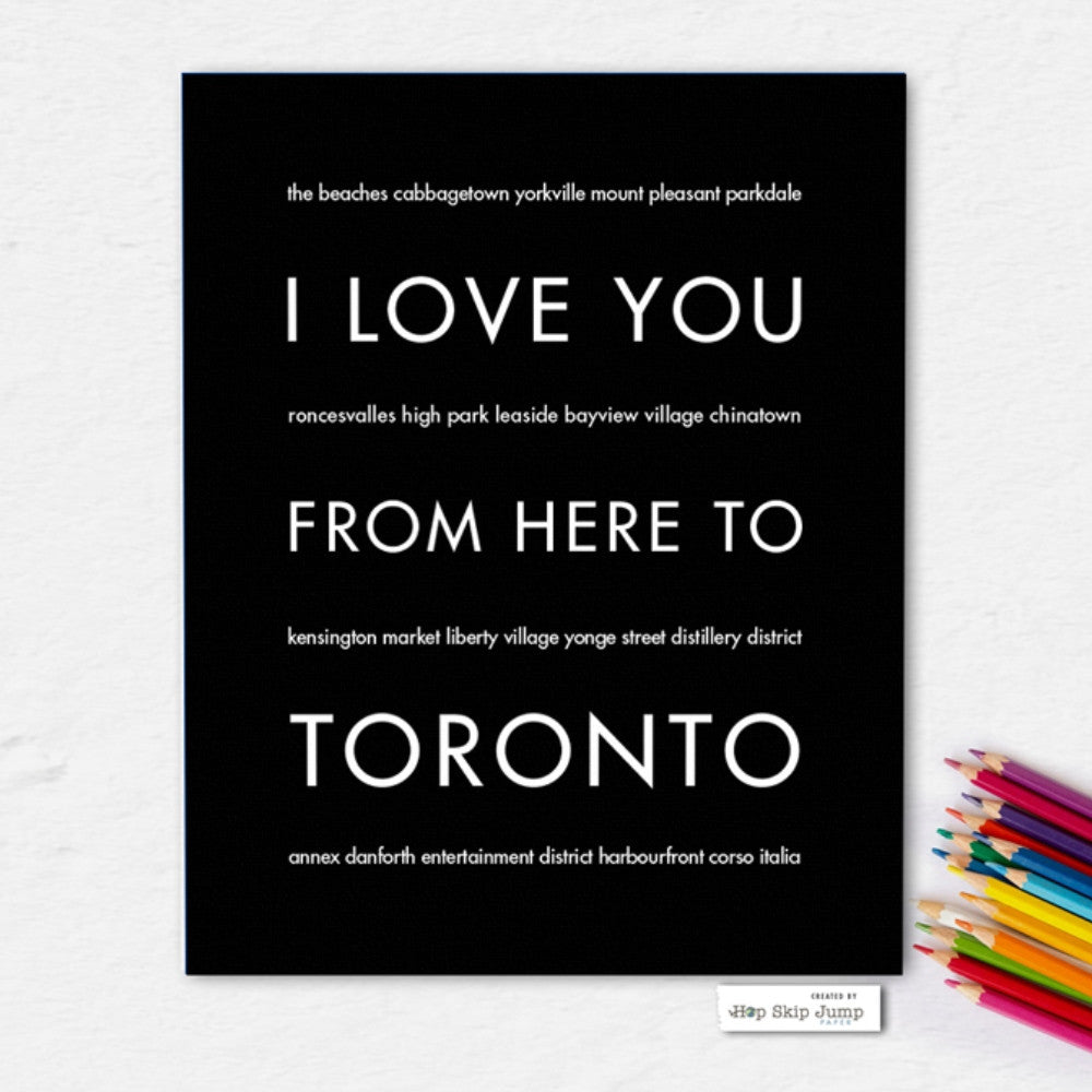 TORONTO Travel Art Print | Gift Idea | HopSkipJumpPaper  - Shop Online