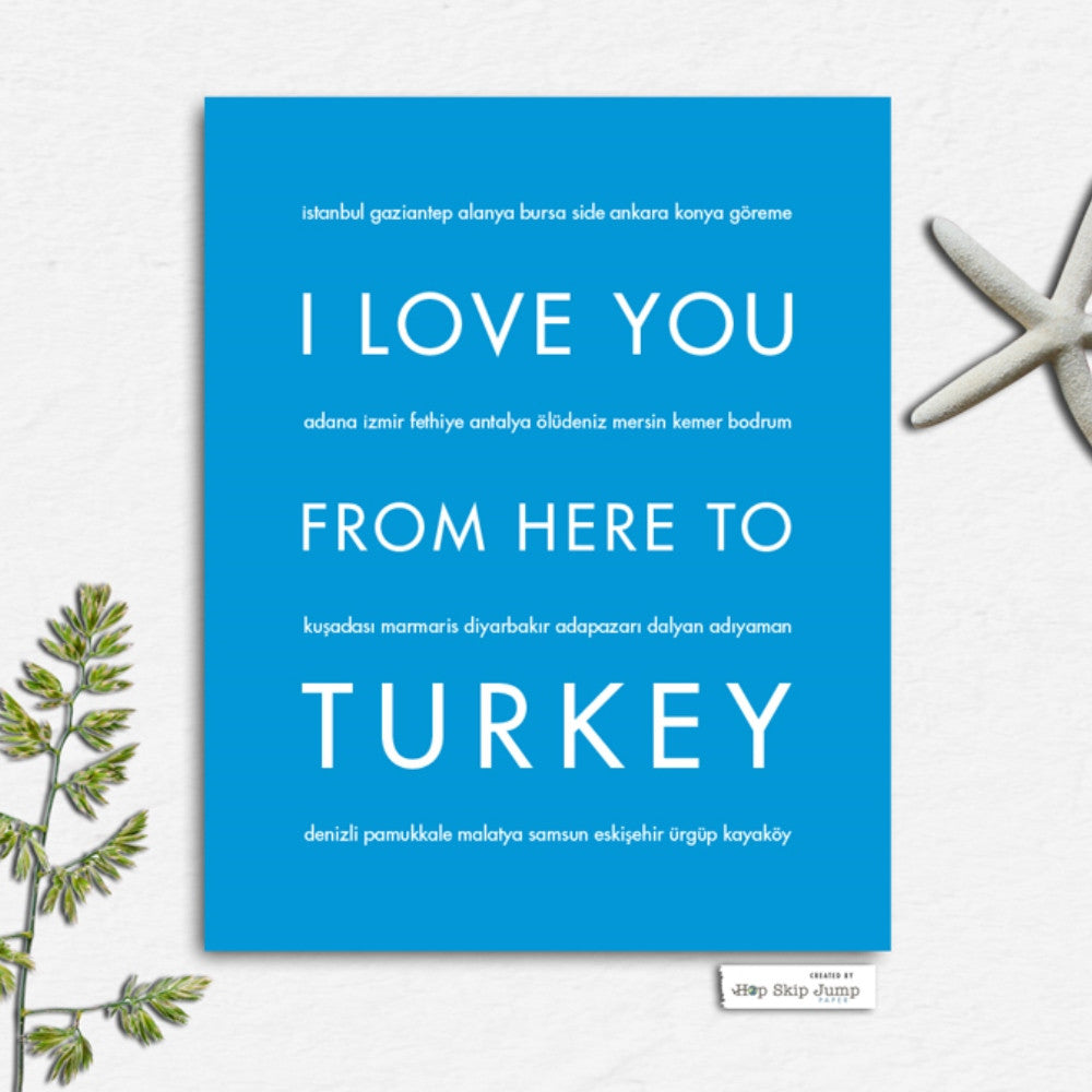 TURKEY Travel Art Print | Gift Idea | HopSkipJumpPaper  - Shop Online