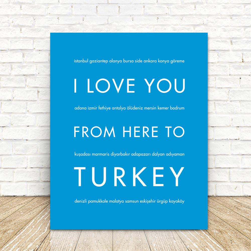 TURKEY Travel Art Print | Gift Idea | HopSkipJumpPaper