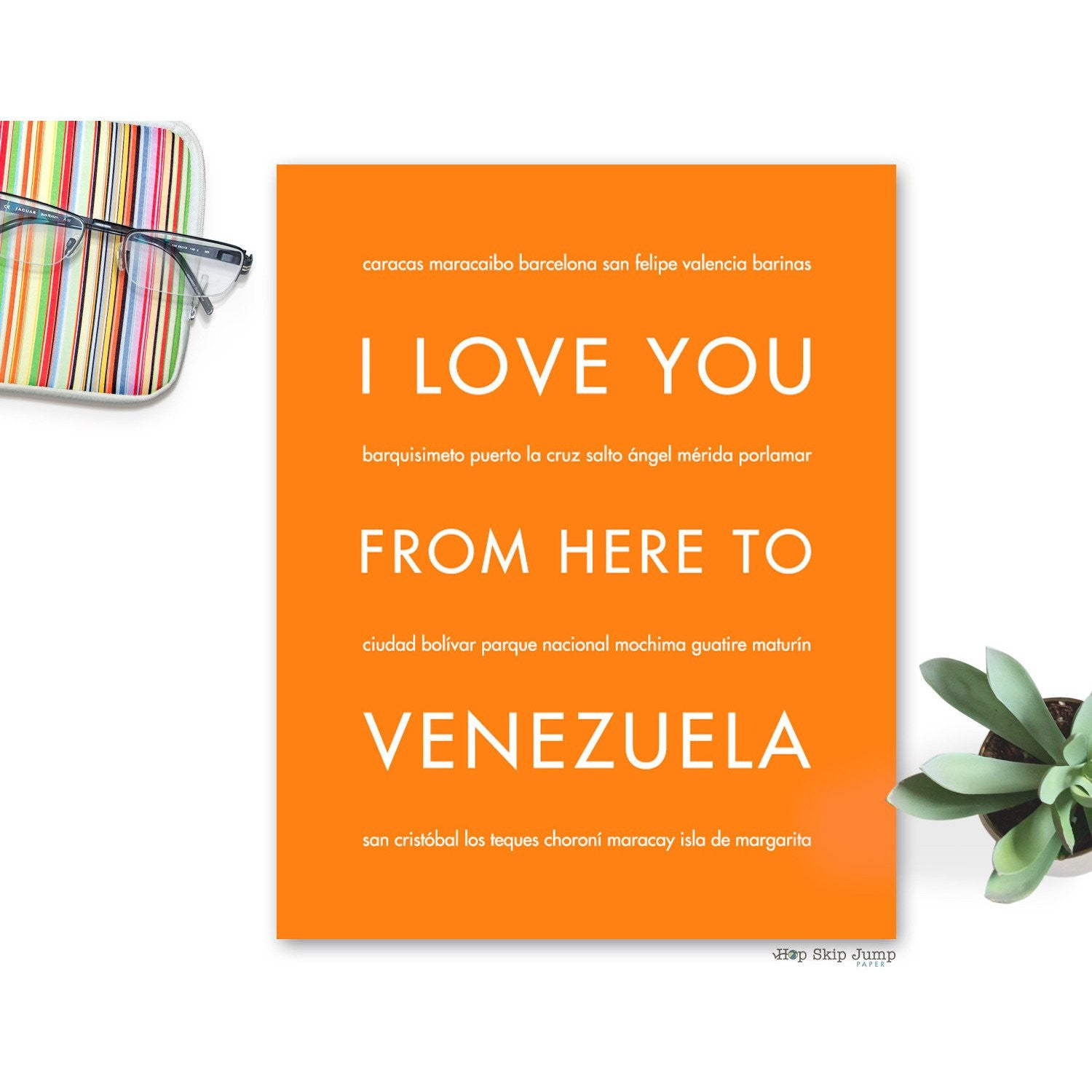 VENEZUELA Travel Art Print | Gift Idea | HopSkipJumpPaper  - Shop Online
