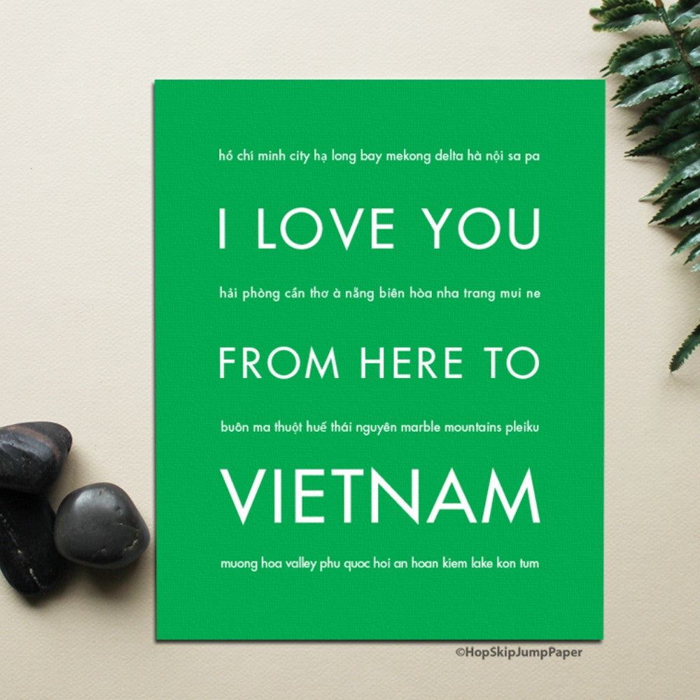 VIETNAM Travel Art Print | Gift Idea | HopSkipJumpPaper  - Shop Online