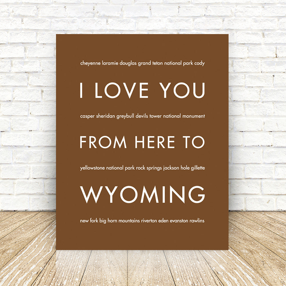 WYOMING State Art Print | Gift Idea | HopSkipJumpPaper