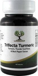 Trifecta Turmeric (Thunder God Vine, Turmeric, Black Pepper Extract) Capsules 400mg 90 Count