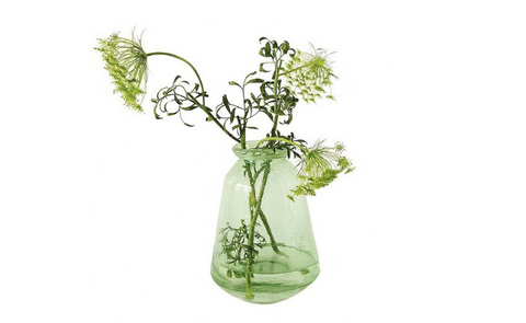 Greenery hurricane vase