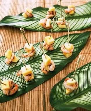 Tropical Wedding Party Hors D'oeuvres