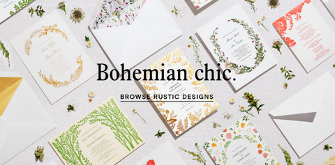boho chic event invite