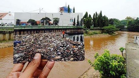 Indonesia's capital, Jakarta, in 2013 and 2016, after a huge effort by a government initiative to clean the city's rivers