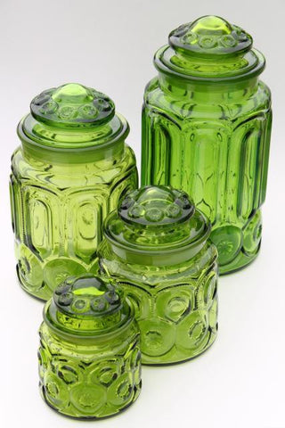 greenery kitchen jars antique