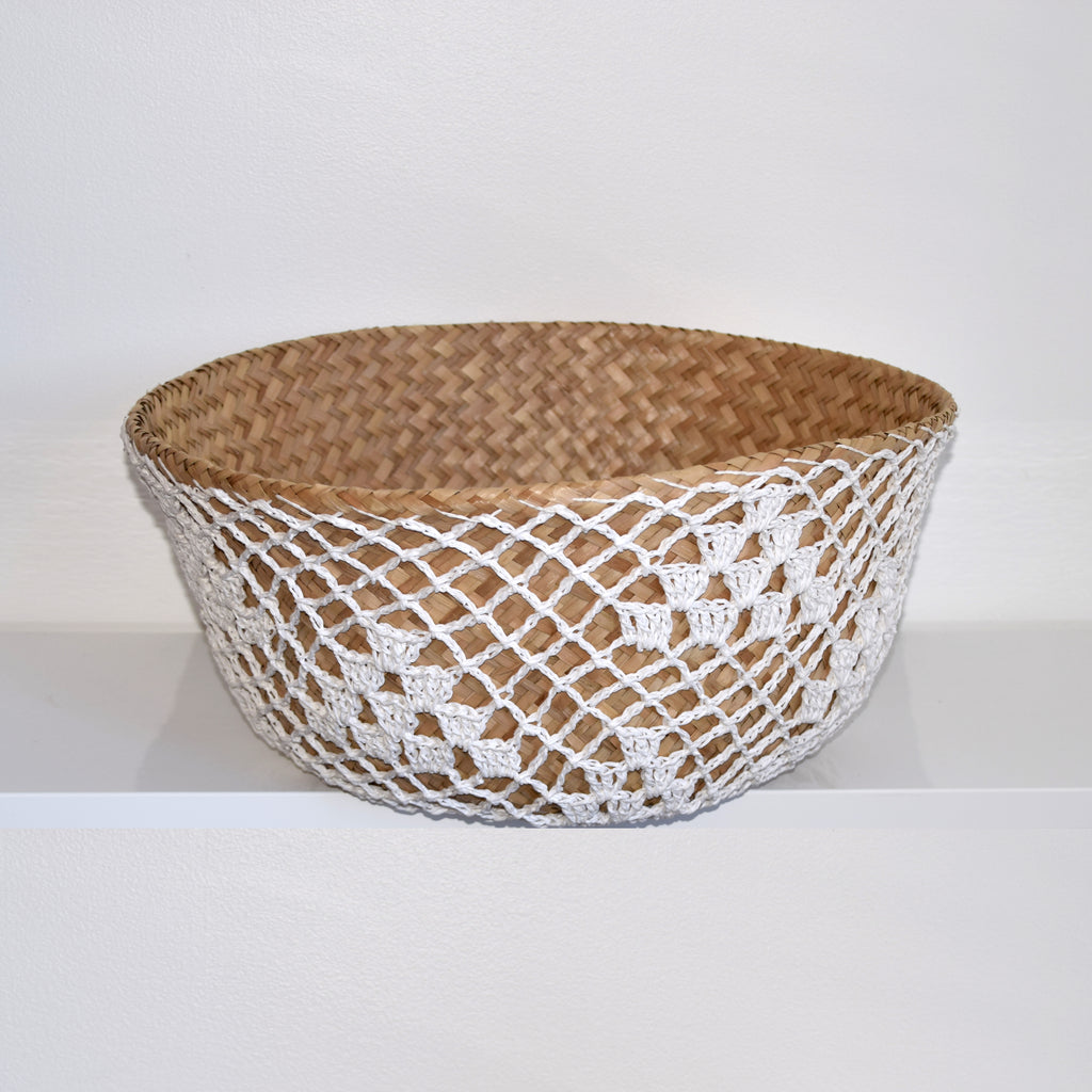 ULA Seagrass Baskets [White Macramé]