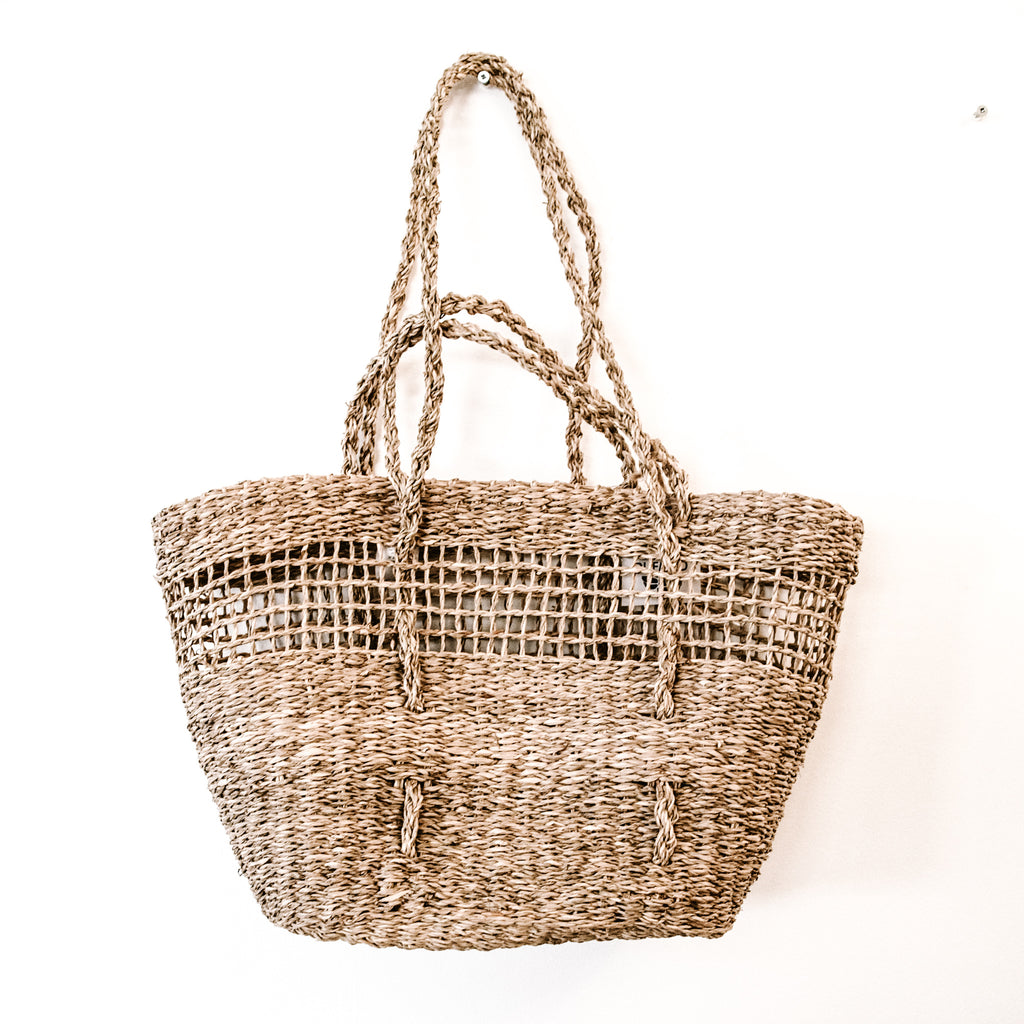 RETREAT Basket Tote, Full Moon Full Weave