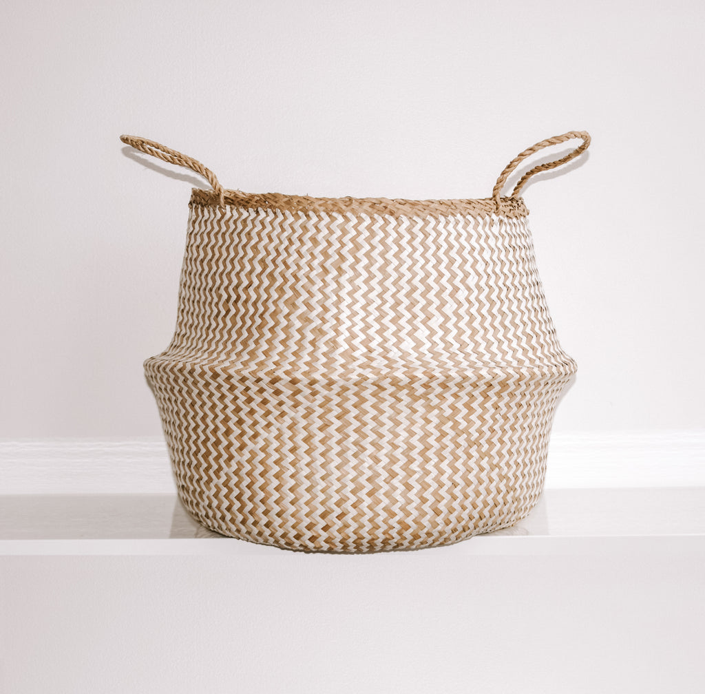 PLUSH Seagrass Basket [White]