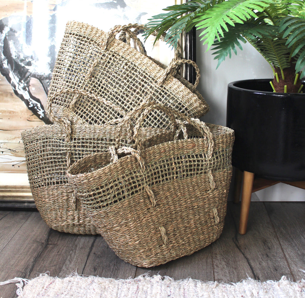 DUFMOD Seagrass Tote, Open Weave