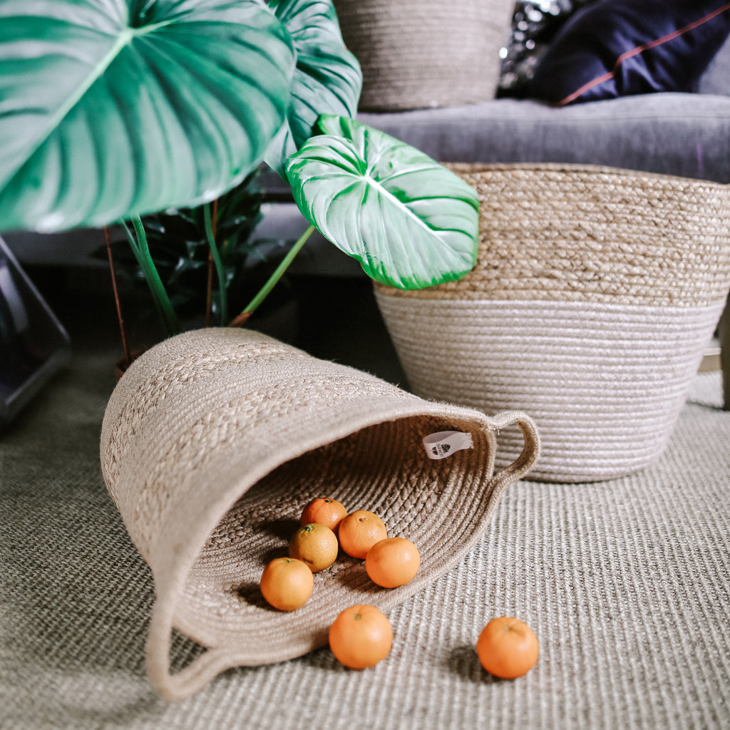 Dufmod Handwoven Jute and Seagrass basket