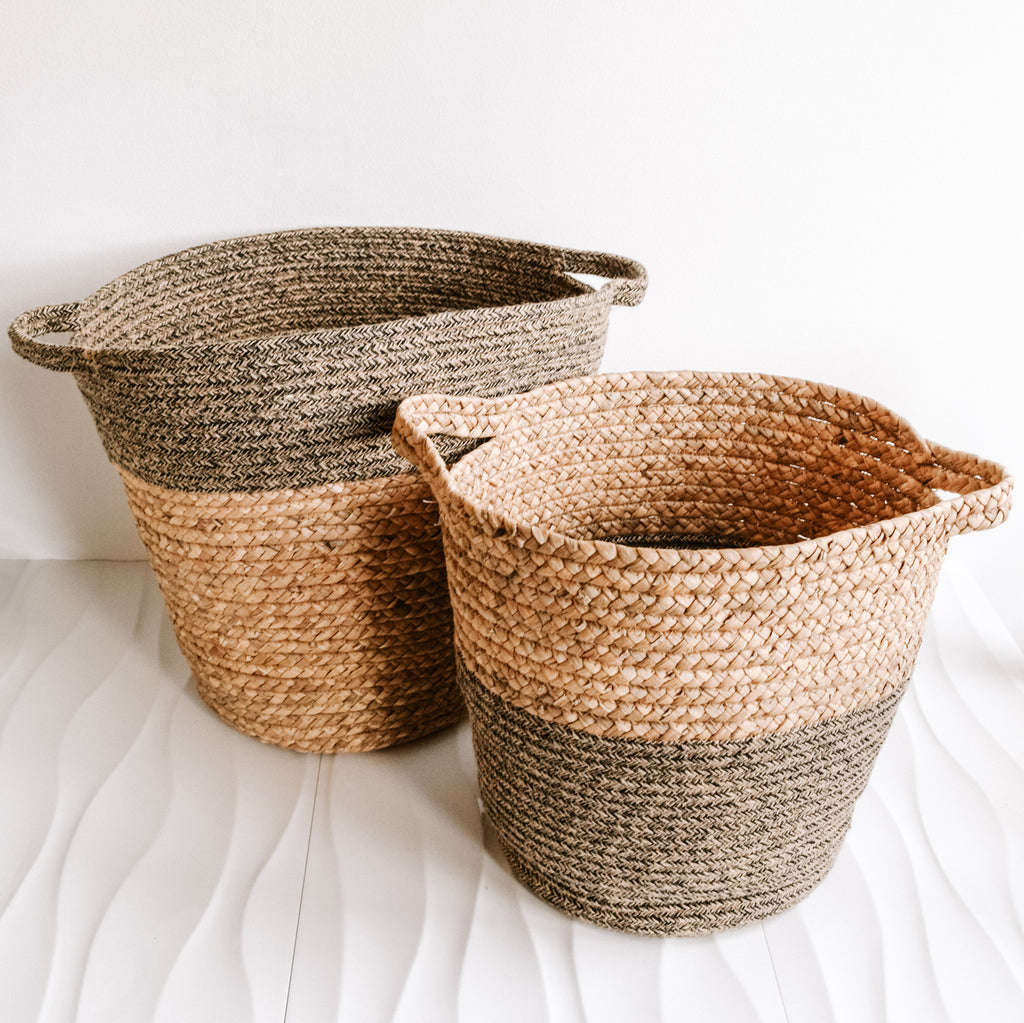 Monochrome Sandbar Basket | Black
