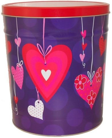 Valentines Heart Strings - Popcorn Tin