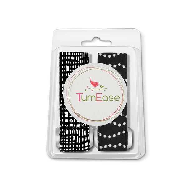 The TumEase Checkered and Dot Acupressure Bracelets