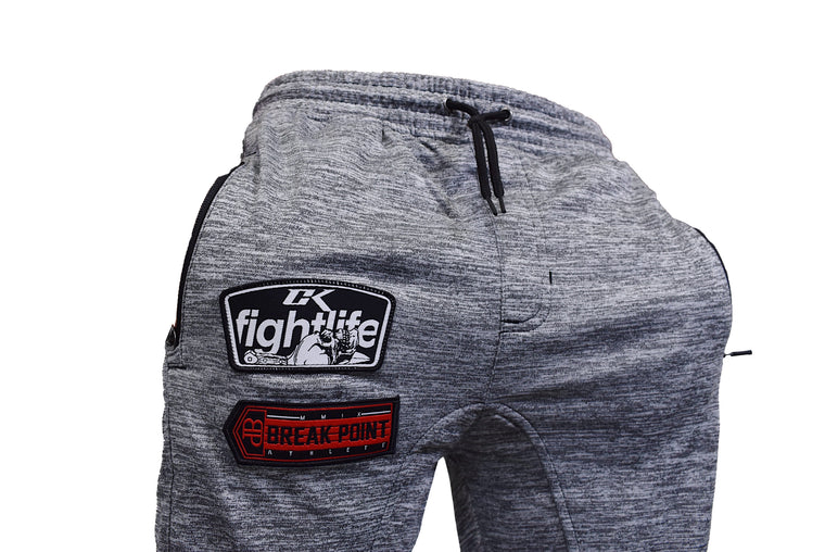 Break Point X CK Fight Life Collab Jogger Sweatpants - Light Gray