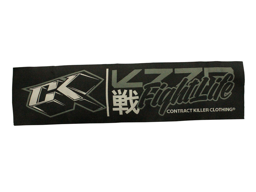 "CK Fight Life White Rectangular Patch 14"" X 3.5"""