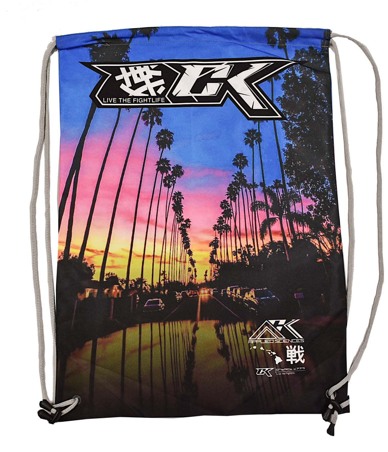 CK Los Angeles Times Drawstring Bag