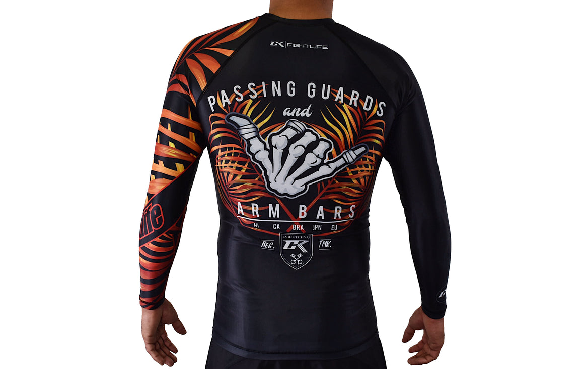 CK Dem Bones Rash Guard - Fire