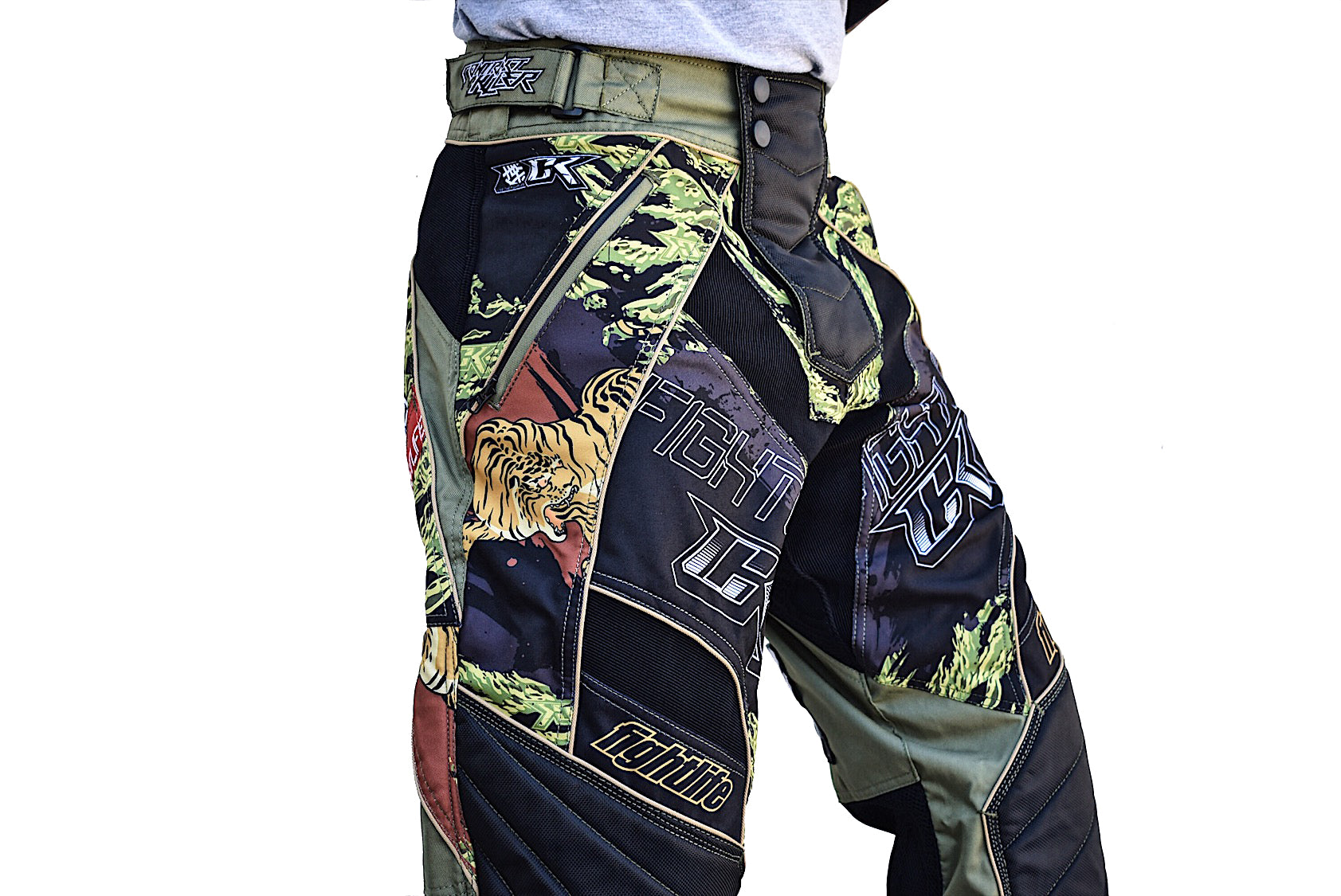 Contract Killer Tiger Stripe Paintball Pants - Olive - CK Fight Life 008a0c40712