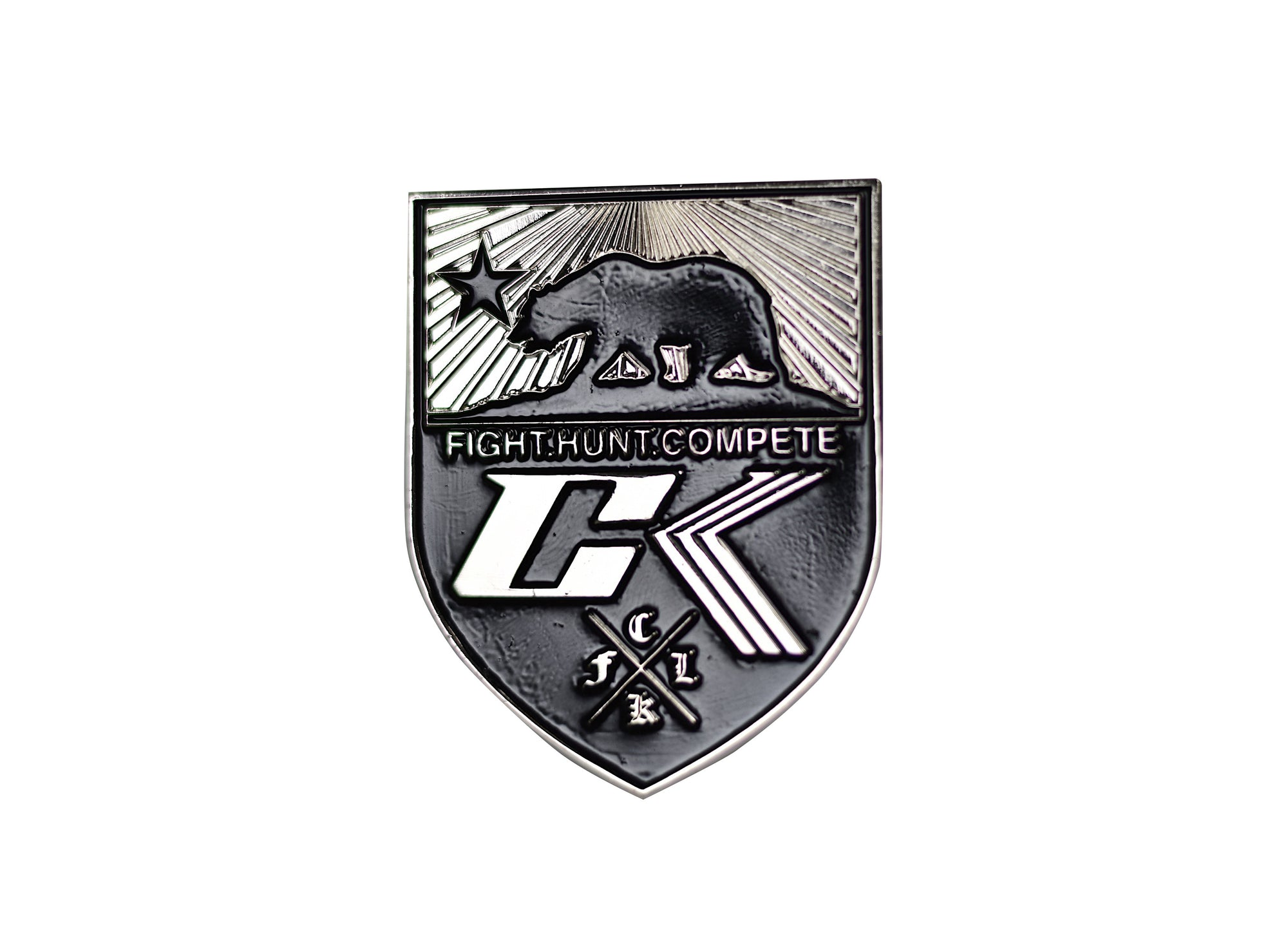 Fight Hunt Compete Pin