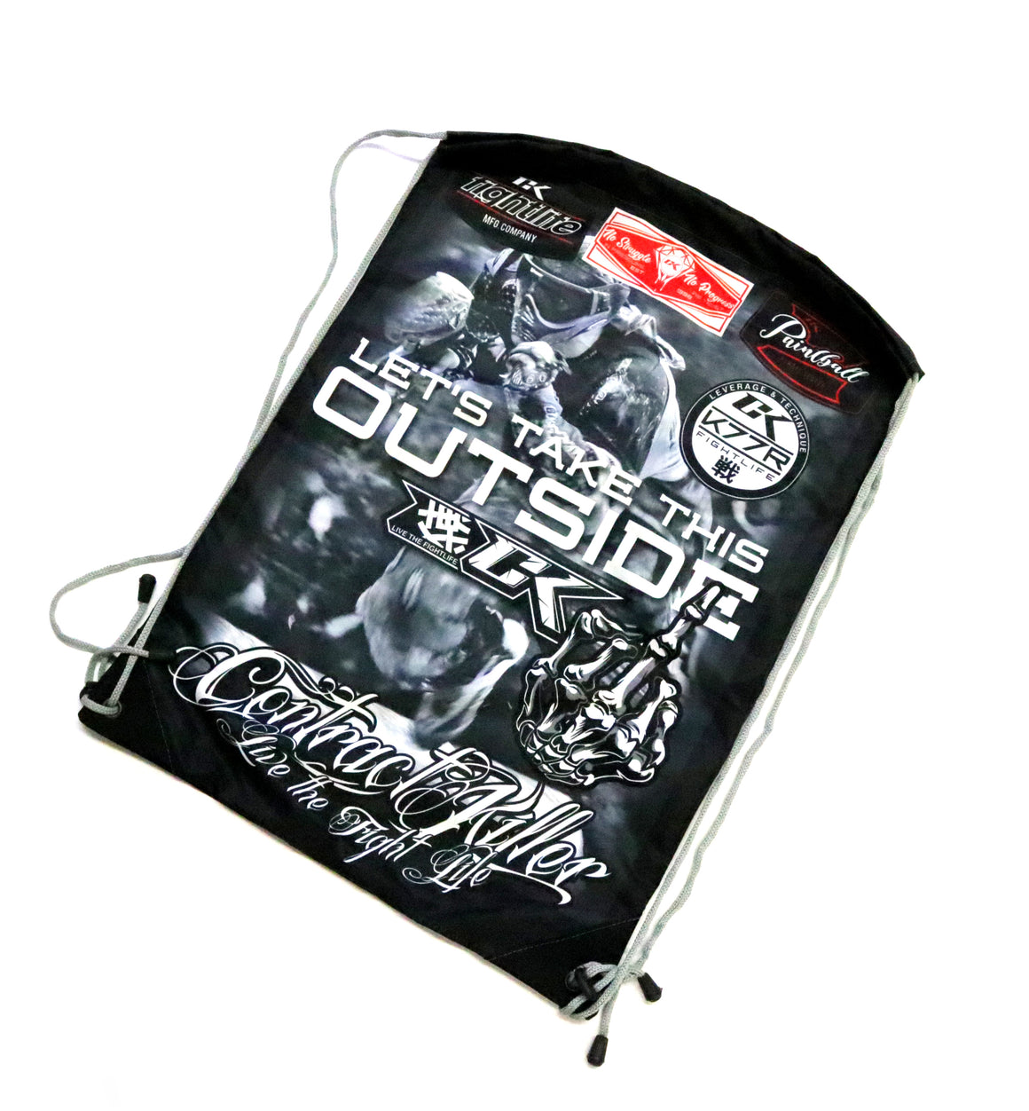 "CK ""Lets Take This Outside"" Paintball Drawstring Bag"