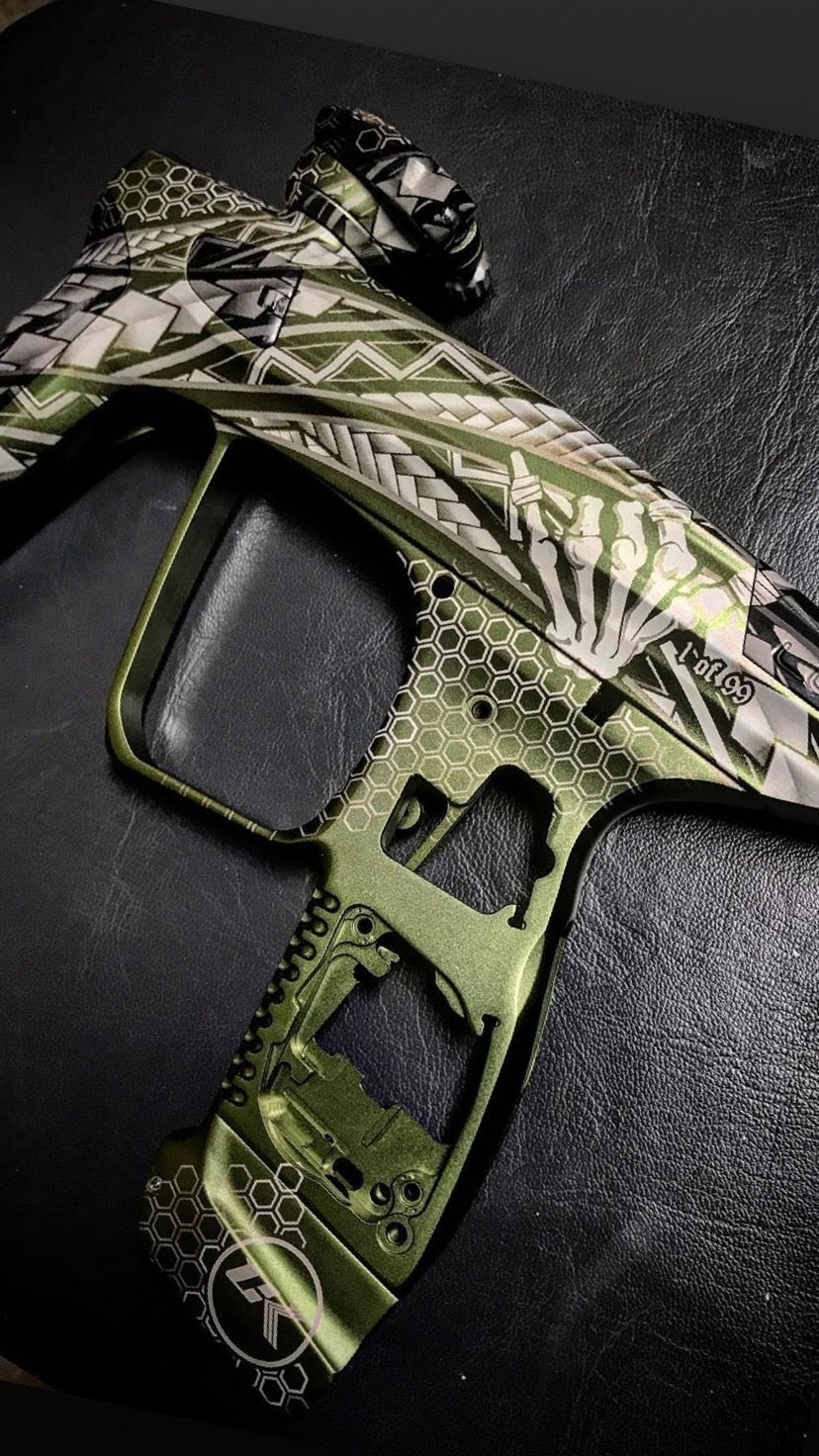 Tribal With Shaka Paintball Marker Design