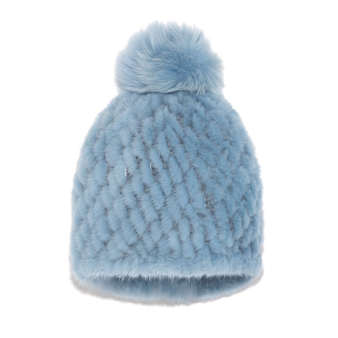 Knit Mink Hat