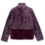 Fur Jacket in Purple