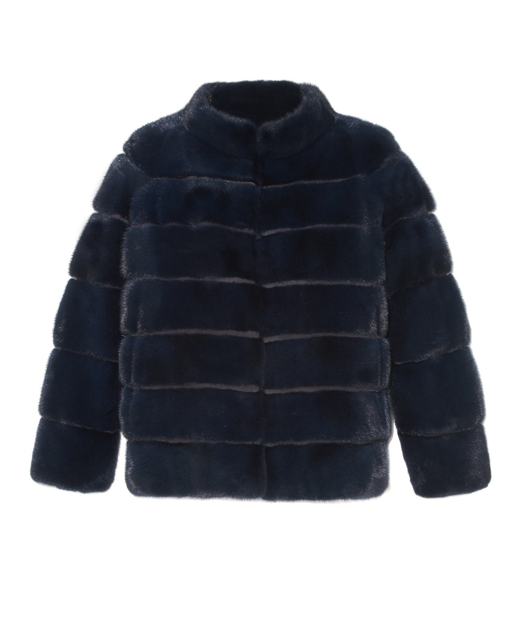 Mink Jacket in Navy Blue Color