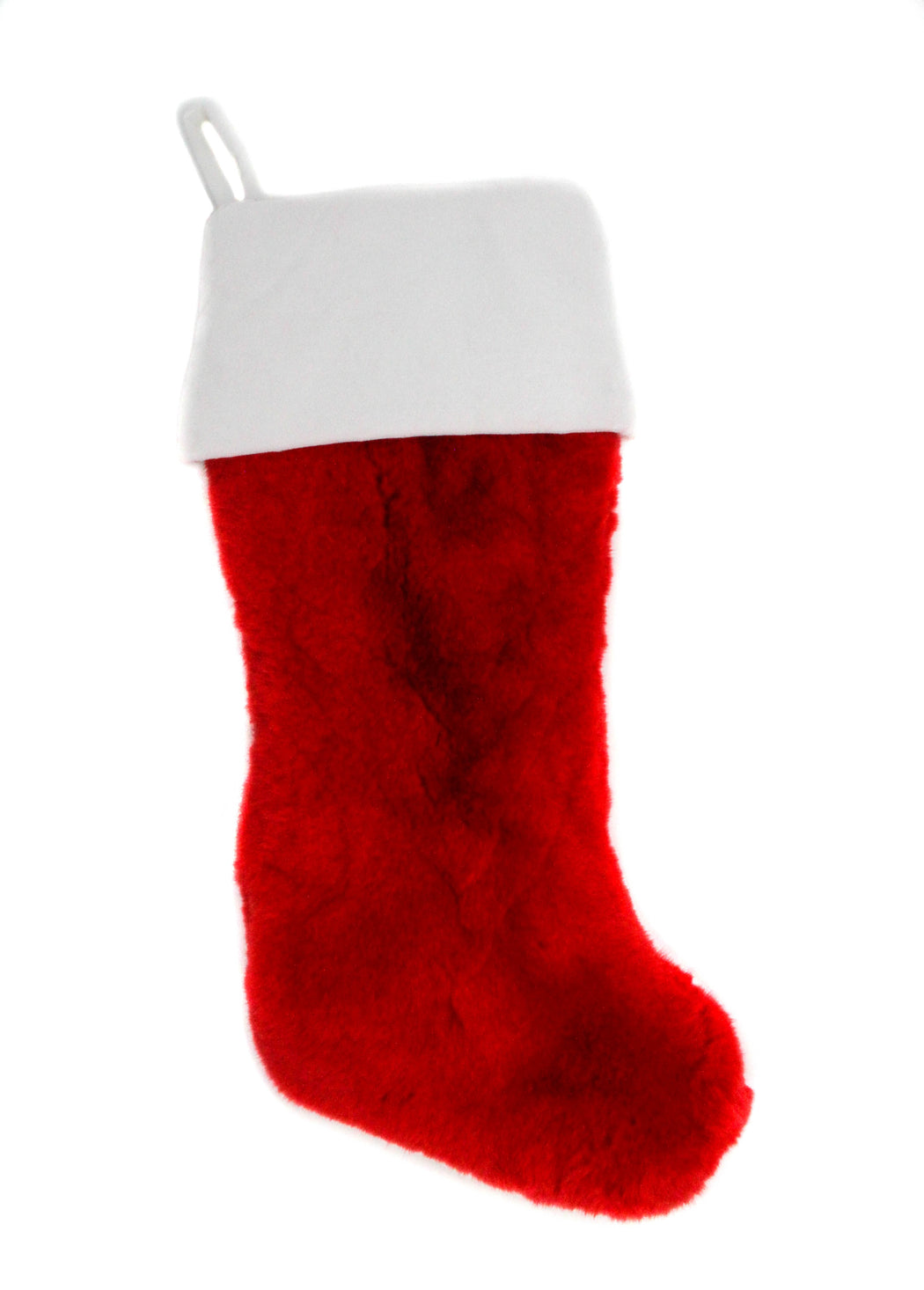 The Rex Rabbit Christmas Stocking in Red