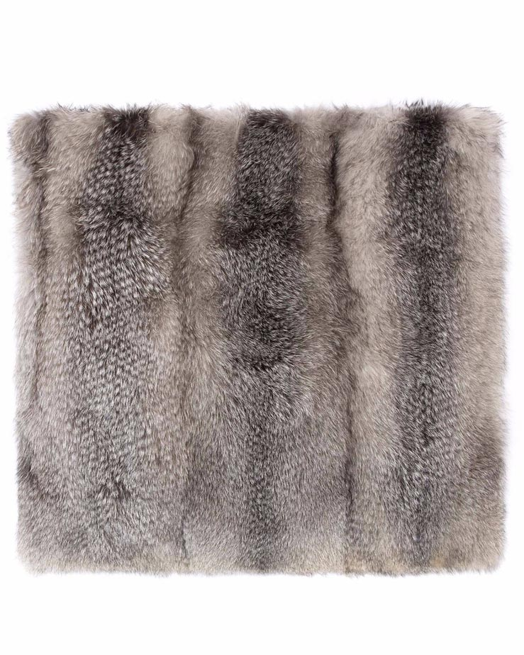 Fur Throw in Blue - Pologeorgis