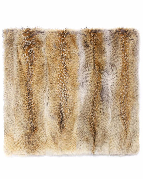 Fur Throw in Camel Color - Pologeorgis