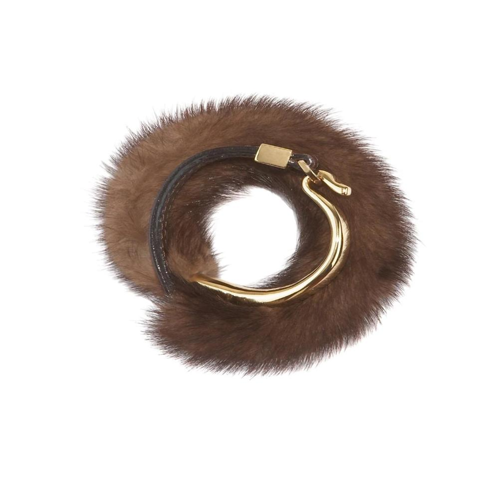 Fur Cuffs in Brown Color, Pologeorgis