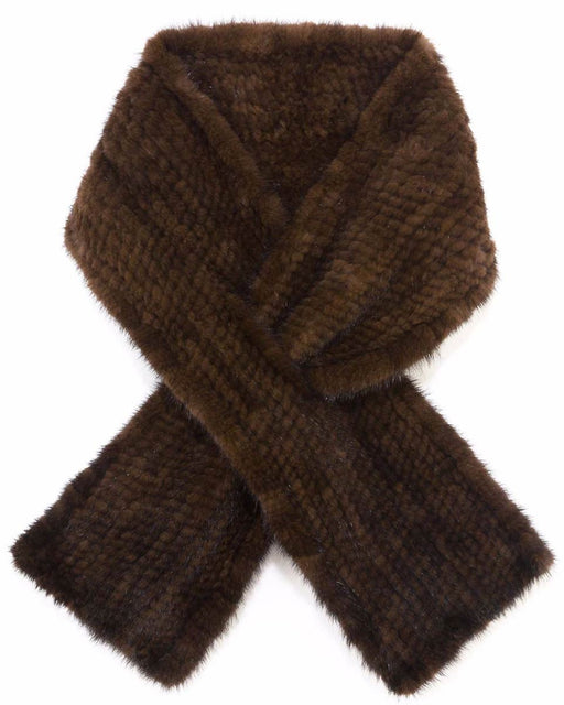 Fur Scarf in Mahagony Color